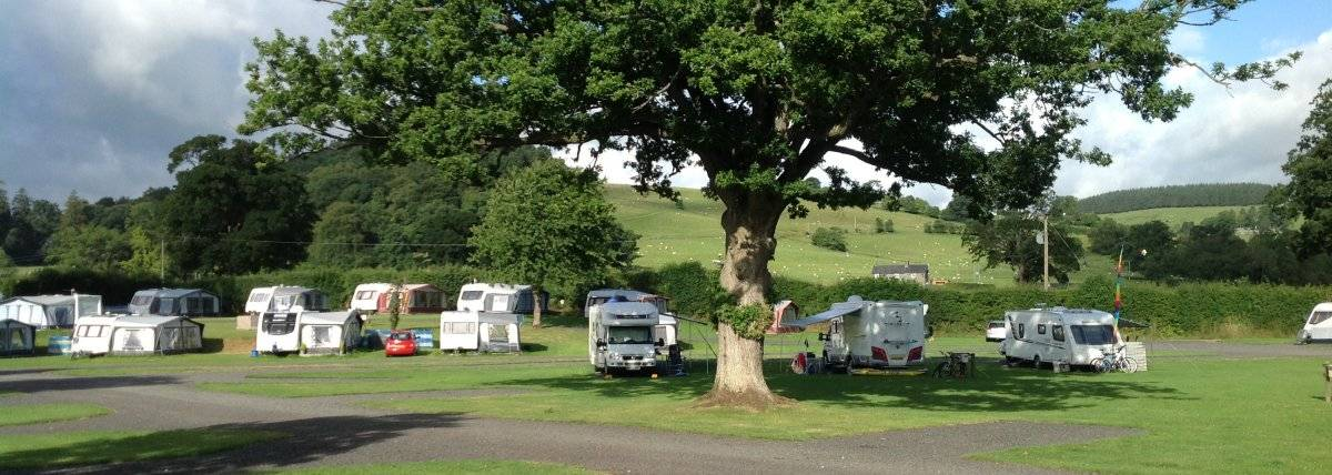 lovely tourer and campervan pitches at Glanllyn